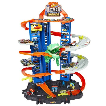 Hot Wheels City garáž s T-Rexem