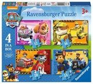 Puzzle Ravensburger Tlapková Patrola; 4v1, 12/16/20/24 dílků