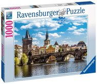 Puzzle Ravensburger Praha: Pohled na Karlův most 1000 dílků