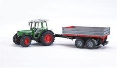Bruder 2104 Traktor FENDT Farmer + príves