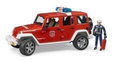 Bruder 2528 Jeep Wrangler Rubicon hasiči s figurkou