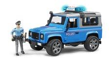 Bruder 2597 Policejní Land Rover Defender s figurkou policisty