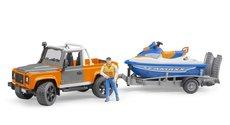 Bruder 2599 Land Rover Defender s přívěsem a vodním skútrem