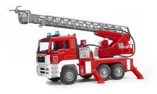 Bruder 2771 MAN požiarnícke auto s plošinou a majákom