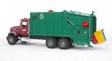 Bruder 2812 MACK nákladní auto popelář zelený
