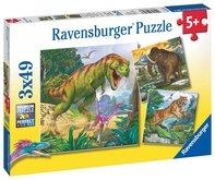 Ravensburger puzzle Dinosaury a čas 3x49 dielikov