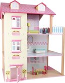 Legler Dřevěný domek s růžovou střechou