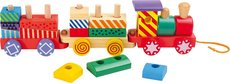 Legler Dřevěný pestrobarevný vlak