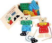 Dřevěná hračka - Prošívání a provlékání - Medvědi