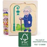 Legler Dřevěné puzzle život babičky 28 dílků
