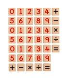Viga Dřevěná magnetická čísla