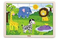 Lamps Dřevěné puzzle 16 dílků - divočina