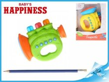 Mikro Trading Trumpetka 12cm na baterie s melodiemi a světlem Baby´s Happiness 2barvy