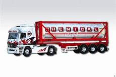 Stavebnice Monti 60 Chemical Fluid Actros L-MB 1:48