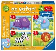 RAVENSBURGER Moje první puzzle: Na safari 4v1 2,3,4,5 dílků