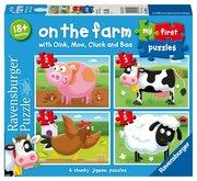 RAVENSBURGER Moje první puzzle: Na farmě 4v1 2,3,4,5 dílků
