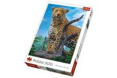 Trefl Puzzle Divoký Leopard 500 dílků